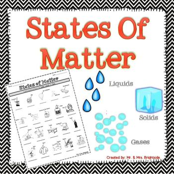 Identifying the States of Matter by Mr and Mrs Brightside ...