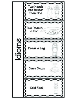 Idiom Foldables~ Use with your Interactive Notebooks! by