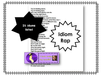 Idiom Rap Great for National Poetry Month by NeesieNoodle