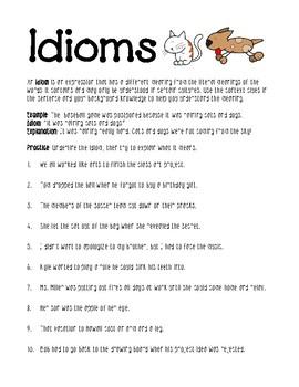 Idioms Worksheet By Lisamillerphotos
