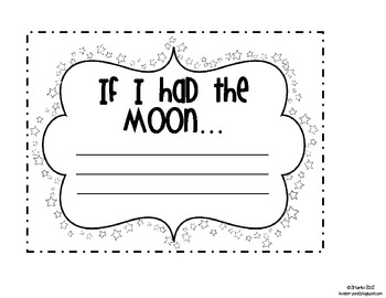 If I Had the Moon Writing Prompt by Kindergarten