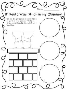 If Santa was Stuck in the Chimney by First Grade