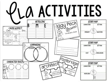 Iggy Peck Architect Book Companion and STEM Activity by