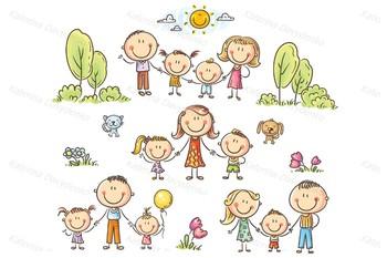illustrations of happy cartoon