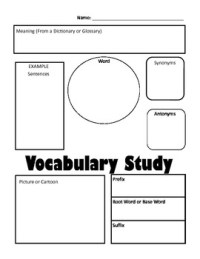 In-Depth Vocabulary Graphic Organizer by BeccaJ1601 | TpT