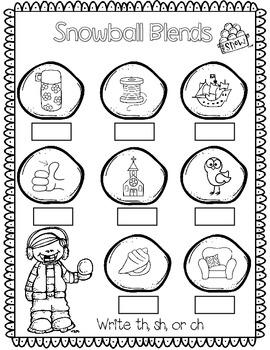 Winter NO PREP Printables! Kindergarten Common Core Math