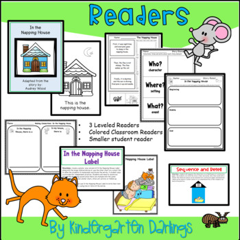 In the Napping House Emergent Reader Plus Literacy & Math