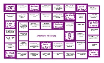 Indefinite Pronouns Board Game By Esl Fun Games  Tpt