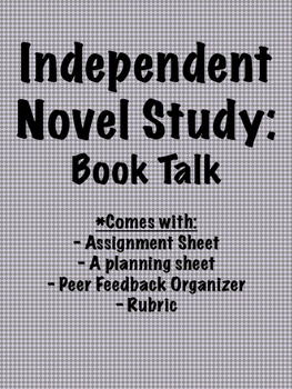 Independent Novel Study: Book Talk by Teaching with St