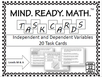 Independent and Dependent Variables Task Cards (for Math