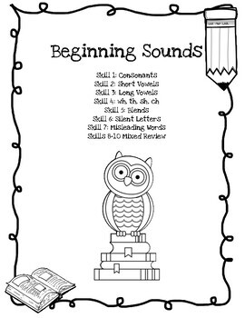 Indiana IREAD Beginning, Middle, Ending Sounds Skill Tests