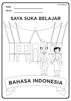 Mewarnai Baju Adat : mewarnai, Indonesian, Cover, (Rumah, Pakaian, Minangkabau), Think, Bahasa