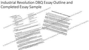 Industrial Revolution DBQ Essay Formula and Completed