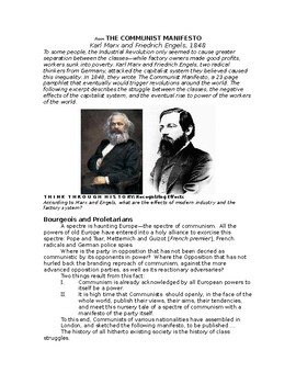Industrial Revolution: from The Communist Manifesto by