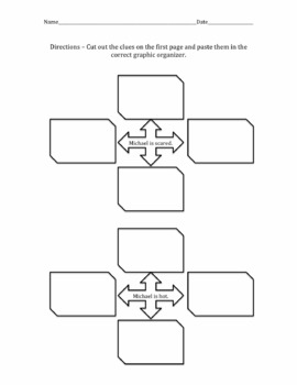 Inference Graphic Organizer Cut and Paste Activity by