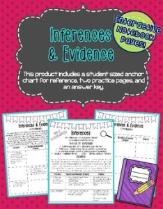 also inference and evidence interactive notebook page by lacey   shop rh teacherspayteachers