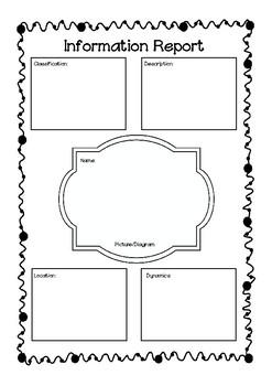 Information Text Graphic Organiser by Miss Collins Teacher