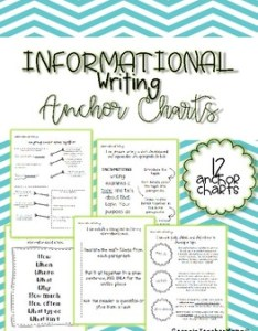 Informational anchor charts for third grade writing by georgiateachermama also rh teacherspayteachers
