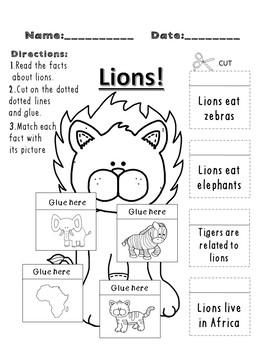 Informational Text- Safari Animals (Common Core) GROWING