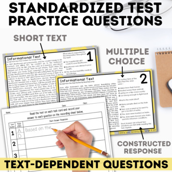 Informational Text Task Cards by Custom Classroom by