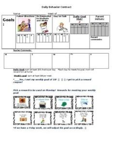 Inidual behavior chart also by first grade jungle tpt rh teacherspayteachers