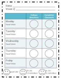 also inidual behavior chart weekly by kali schoonmaker tpt rh teacherspayteachers