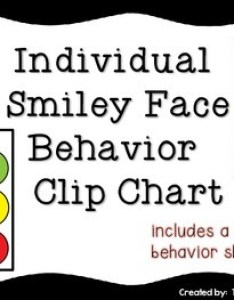 Inidual smiley face behavior clip chart with editable weekly also rh teacherspayteachers