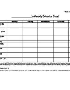 Inidual student weekly behavior chart editable also tpt rh teacherspayteachers