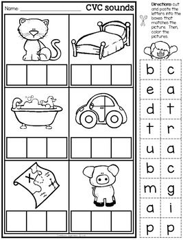 Initial, Medial and Final sounds practice (work sheets and