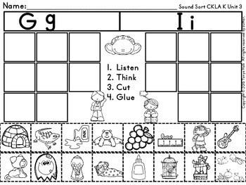 Initial Sound Match Activity CKLA Kindergarten Skills Unit