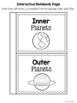 Inner Planets and Outer Planets Mini-Unit by JH Lesson