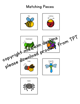 Insect Adapted Book and Weekly Work Bundle by Adapted