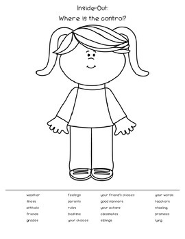 Inside-Out: Where is the control? Worksheet by Counselor