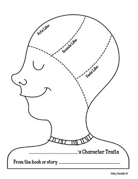 Inside the Character's Head: A Character Traits Craftivity