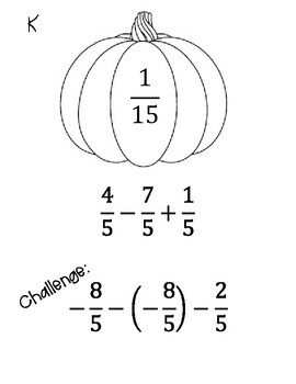 Integer Operations with Fractions Scavenger Hunt by Math