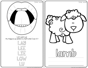 Articulation Homework Readers for Speech Therapy (L