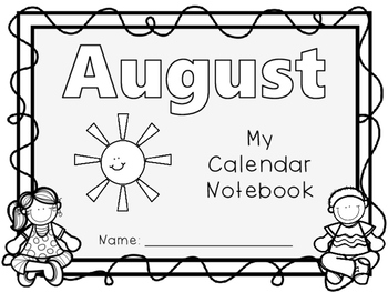 Interactive Daily Calendar Notebook by Classy in