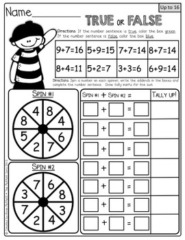 Interactive Math Packet (Addition up to 20)! by The