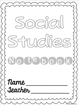 Interactive Notebook Student Covers Rubric and Table of