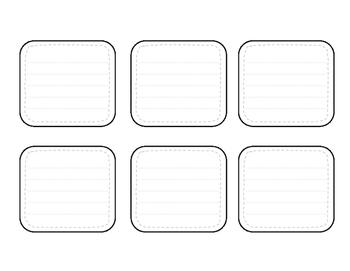 Interactive Notebook Vocabulary Pocket Templates by Jodi's