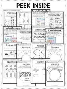 Close Reading Interactive Notebook Templates by Nicole and