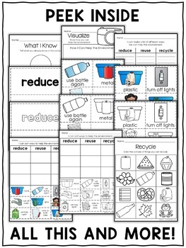 Reduce Reuse Recycle Sort Activities by Nicole and Eliceo