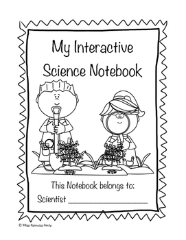 Interactive Science Notebook Cover Page by Miss Famous