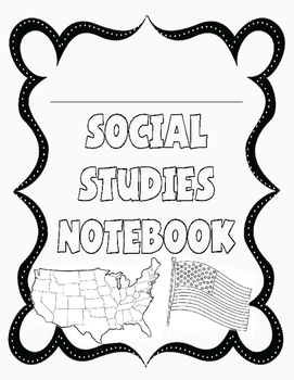 Interactive Social Studies Notebook Cover by Erin Roberts