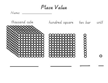 Intro to Place Value Recording Sheet by Montessori