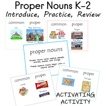 Intro to Proper Nouns K-2 by Sailing Through the Common