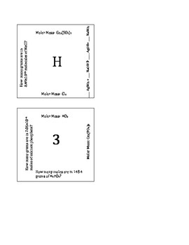 Intro to Stoichiometry Puzzle Version A by The Chem and