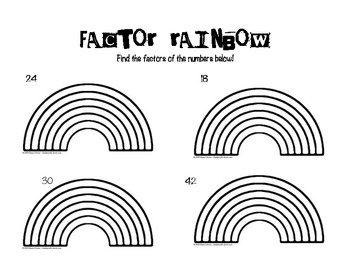 Factor Rainbows Worksheets Fourth Grade. Factor. Best Free