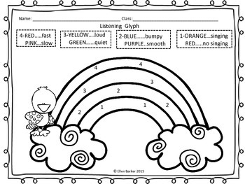 Irish Music Listening Coloring Glyphs by Two Little