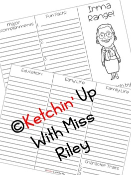 Irma Rangel Research Packet by Ketchin' Up With Miss Riley